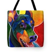 Party Doby,doberman Pinscher  Tote Bag