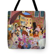 Party In The Courtyard Tote Bag