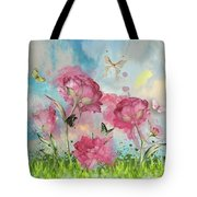 Party In The Posies Tote Bag