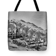 Party Of Eight  6973bw Tote Bag
