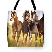 Party Of Five Tote Bag
