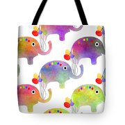 Party Parade - Elephant Children Pattern Tote Bag