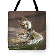 Pass The Towel Please: A House Sparrow Tote Bag