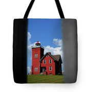 Passageway To The Two Harbors Lighthouse Tote Bag