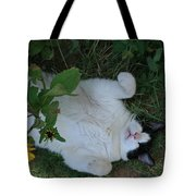 Passed Out Under The Daisies Tote Bag