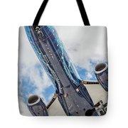Passenger Jet Coming In For Landing 3 Tote Bag