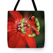 Passiflora Vitifolia Scarlet Red Passion Flower Tote Bag