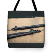 Passing Barges Tote Bag