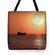 Passing By In Calm Waters Tote Bag