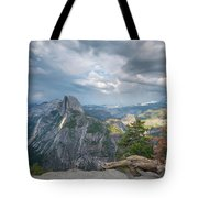 Passing Clouds Over Half Dome Tote Bag