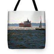 Passing Ships Tote Bag