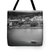 Passing Storm In Chattanooga Black And White Tote Bag
