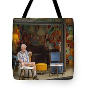 Passing The Time Of Day Tote Bag