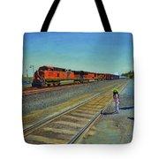 Passing Train Tote Bag