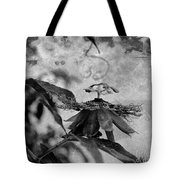 Passion Flower Black And White Tote Bag