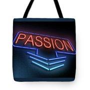 Passion Neon Concept. Tote Bag