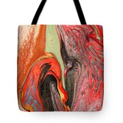 Passionate Waves Abstract Painting Tote Bag