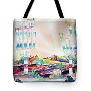 Pastel Desert Landscape Tote Bag
