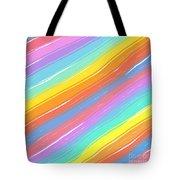 Pastel Diagonals Tote Bag