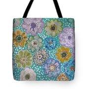 Pastel Floral Garden Tote Bag