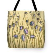 Pastel Floral Pattern On Soft Yellow Background Tote Bag