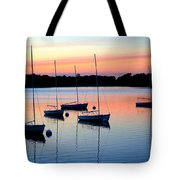 Pastel Lake And Boats Simphony Tote Bag