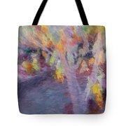 Pastel Leaves Tote Bag