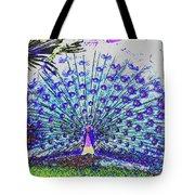 Pastel Peacock Tote Bag