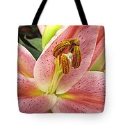 Pastel Pink Lily Tote Bag