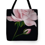 Pastel Pink Rose Tote Bag