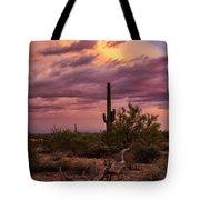 Pastel Sonoran Skies At Sunset  Tote Bag