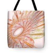 Pastel Spiral Flower Tote Bag