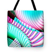 Pastel Spiral Staircase Fractal Tote Bag