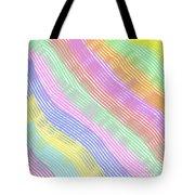 Pastel Stripes Angled Tote Bag