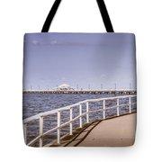 Pastel Tone Sea Pier Landscape Tote Bag