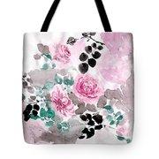 Pastel Water-healing Roses -24 Tote Bag