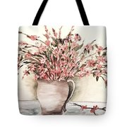 Pastels In Clay Pot Tote Bag