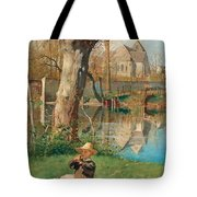 Pastoral Scene On The Bank Of The Loing Tote Bag