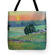 Pastoral Sunset Tote Bag
