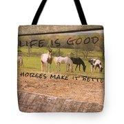 Pasture Friends Quote Tote Bag