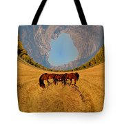 Pasture Of Another World Tote Bag