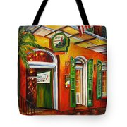 Pat O'brien's Bar On Bourbon Street Tote Bag