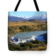 Patagonia Landscape Of Torres Del Paine National Park In Chile Tote Bag