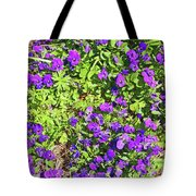 Patch Of Pansies Tote Bag