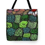 Patches Of Green Tote Bag