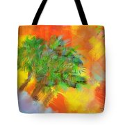 Patchwork Beach Town Tote Bag