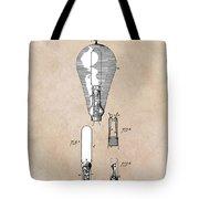 patent art Edison 1892 Incandescent electric lamp Tote Bag