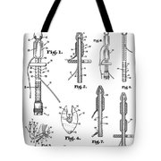 Patent Drawing For The 1966 Medical Device For Control Of Enemata By R. E. Miller Tote Bag
