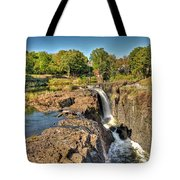 Paterson Water Falls Black And White Tote Bag