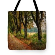 Path Along The Horses Meadow On The Farm Lovedayvale L B Tote Bag